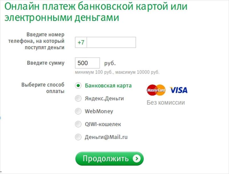 Списание денежных средств с банковской карты Сбербанк