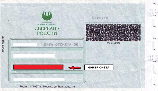 PIN-код на конверте от Сбербанка РФ