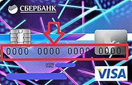 Карта сбербанка Visa