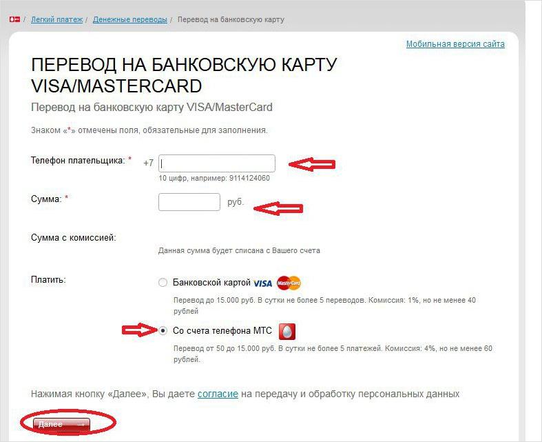 Перевод на банковскую карту mastercard с мобильного телефона