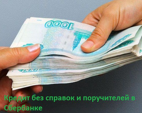 Кредит в Сбербанке России без справок и поручителей